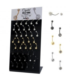 Crystal belly ring stand - BEL51