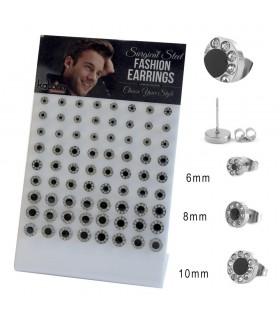 Expositor pendientes de acero punto negro - STD4594