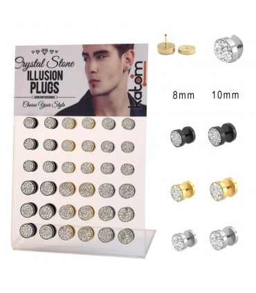 Illusion Plug with stones display - IP1589MIX