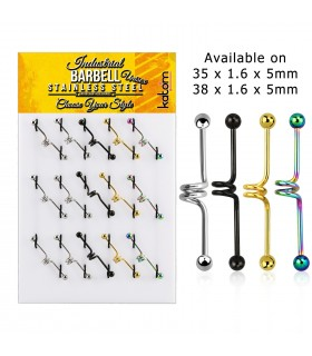 Spiral Industrial Barbell Display - IND1001