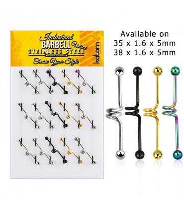 Expositor de Barbell industrial espiral - IND1001
