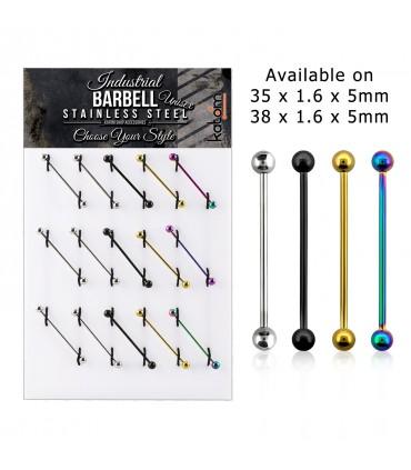 Expositor de Barbell industrial barra - IND1003