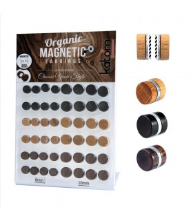 Magnetic wooden illusion plug display - FPM5
