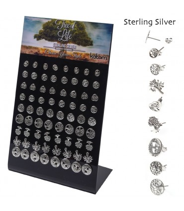 Silver earrings display - TOLSTDS