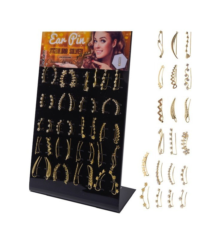 Gold Climber Ear Pin Stud Display - EC7GOLD