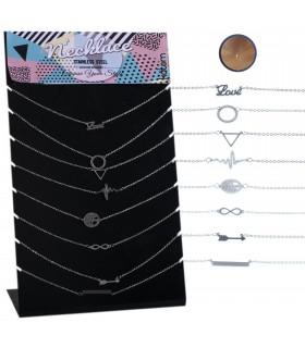 Expositor de collares de acero con motivos- NECST