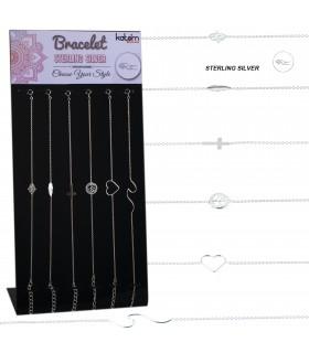 Silver bracelet with design display - BRACSI