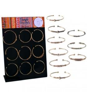 Expositor de pulseras étnicas doradas - BANG1GOLD