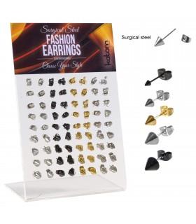 Pendientes de acero pinchos - STD4539