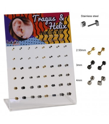 Earring/Tragus/Helix square and round - HEL-CAR21