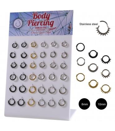 Hinged segment body piercing rings - SEP211