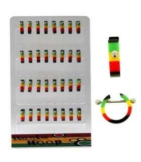Acrylic rasta rings - IP1067
