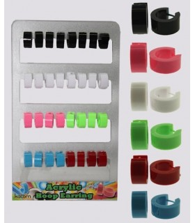 Exhibitor rings acrylic smooth color - HAGS5012
