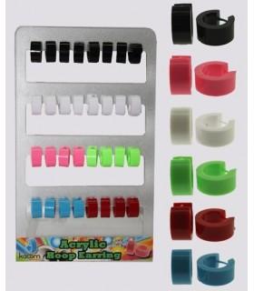 Expositor aros acrilico color liso - HAGS5012