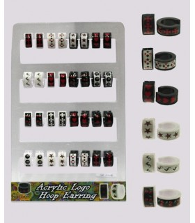 Acrylic hoops display - HAGS5008
