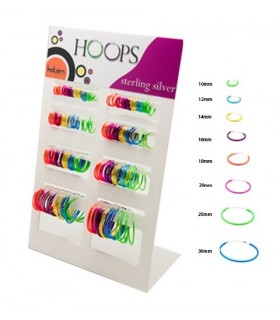 Hoops Silver colors 10 - 30mm - ARO43