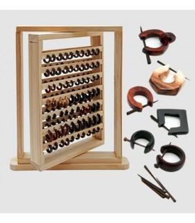 Expositor de aros de madera - ARM15