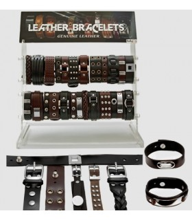 Exhibitor leather bracelets - PUL5