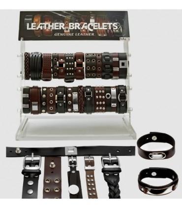 Exhibitor leather bracelets - PUL5