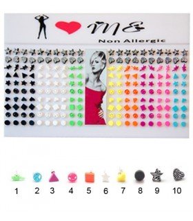 Expositor de pendientes en colores neón - PEN1507