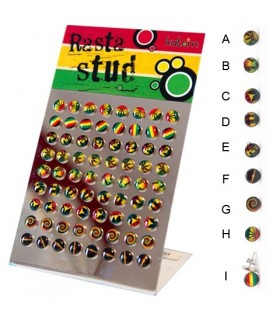 Earrings steel logo Rasta - PEN1178