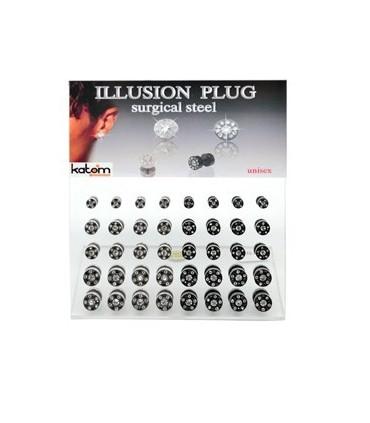Expositor falsa dilatación acero y cristal - IP1501