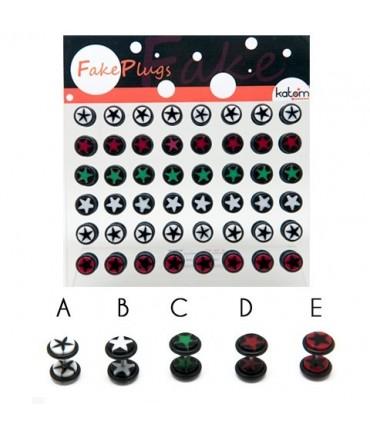 Exhibitor acrylic illusion plug stamped star - IP1518