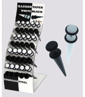 Illusion plug black and white skewer - IPT1706