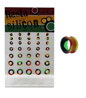 Dilations Rasta silicone 3 - 12mm - SLC3112