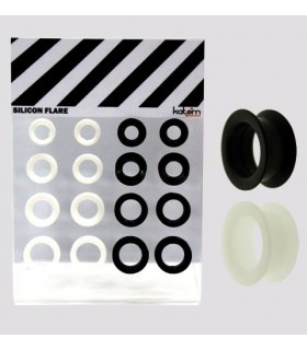 Exhibitor silicone black & white 14 - 20mm - SLC3105
