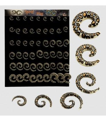 Expositor dilatadores espirales leopardo - EXP3009