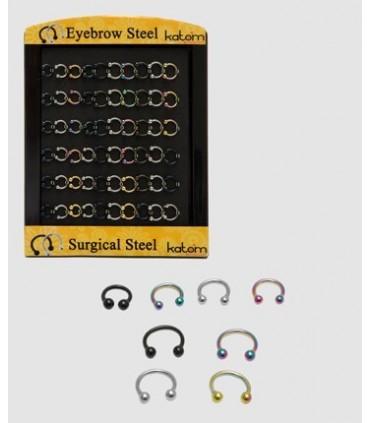 Piercing de ceja 6 y 8 mm - CBB6001