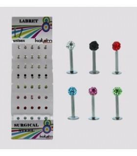 Expositor piercing Labio con piedras - MDN7013
