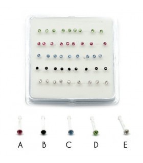 Box silicone nose piercing - NS105A