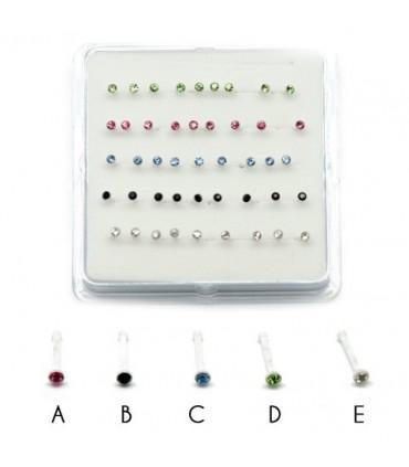 Caja piercing nariz silicona - NS105A
