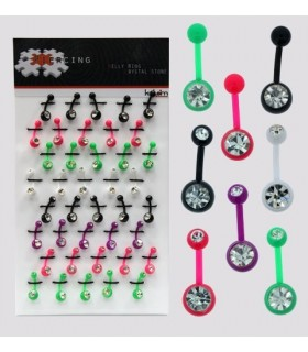 Exhibitor piercing navel silicone - BEL058