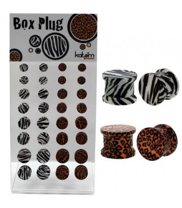 Display leopard and zebra acrylic plug-EP2058LZ