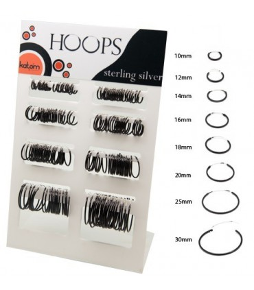 Display Black hoops 10-30mm-ARO80