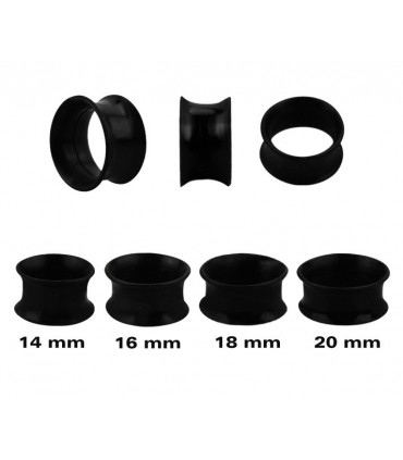 Expositor silicona tipo tubo 14-20mm blanco y negro-EP2161