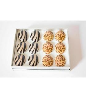 Caja anillos leopardo y cebra - AN5