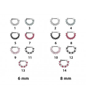 Septum clicker 6,8mm con circonitas en 1,20 y 1,60mm-SEP201