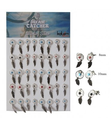 Exhibitor dream catcher silver earrings -ASP2