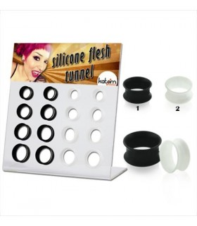 Display silicone 14-20mm white and black -EP2161