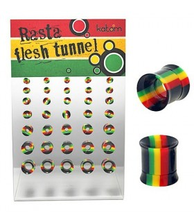 Exhibitor Flesh tunnel Rasta internal screw  EP2060RIRasta