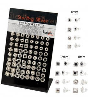 Display of swarovsky studs square and round-PEN1111A