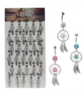 Display Navel Piercing dream catcher - BEL097