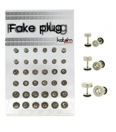 Display Fake Plug in steel and crystal - IP1081U