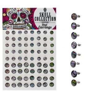 Exhibitor earrings Mexican Skull - PENSKULL4565
