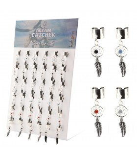 Display silver ear cuff dreamcatcher - EC8