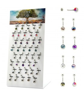 Exhibitor navel piercing tree of life- BEL207